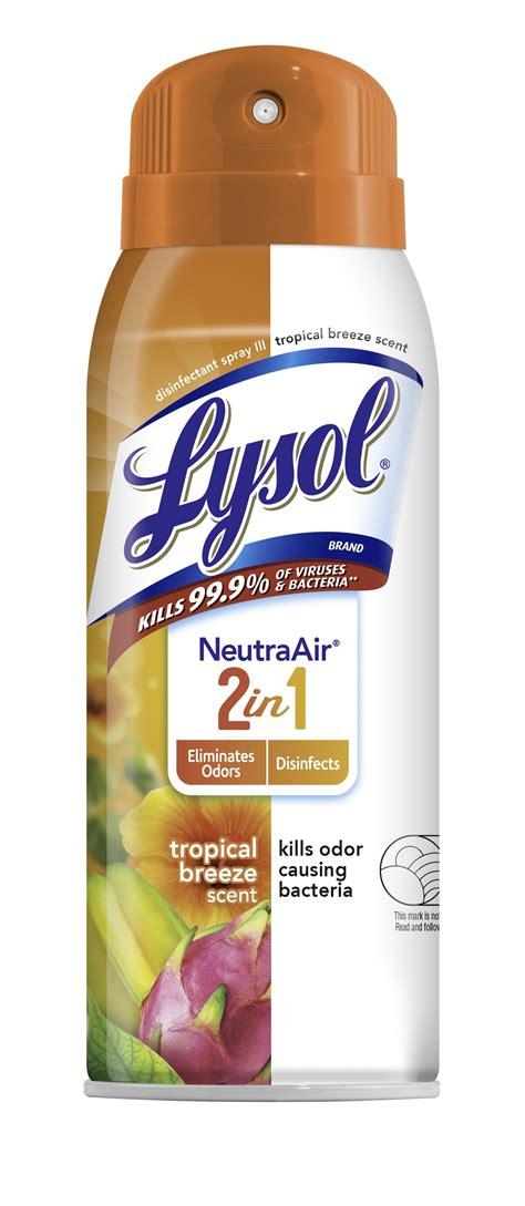 lysol disinfectant spray neutra air    tropical breeze