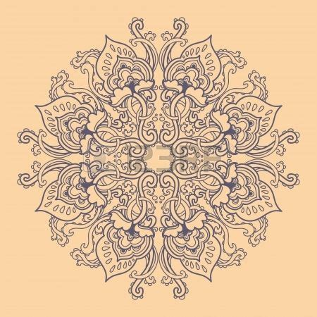 Vorlagen Florale Muster Ornamental Runden Floralen Lochmuster Kaleidoskopischen Florale Muster Mandala Stockfoto