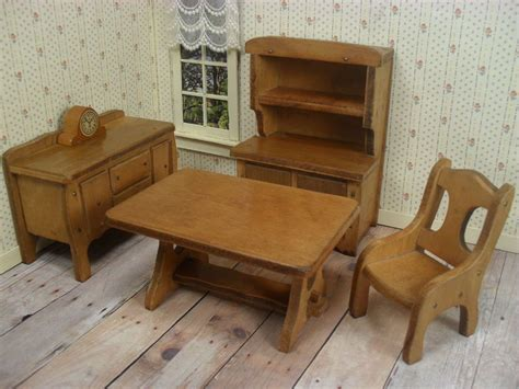 grand rapids dollhouse bedroom furniture 1930 s grand rapids doll house dining room furniture 1930 s