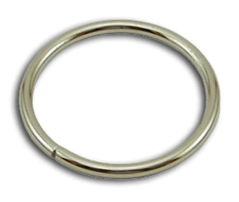 metal o rings 1 1 2 inch wide silver by the bag