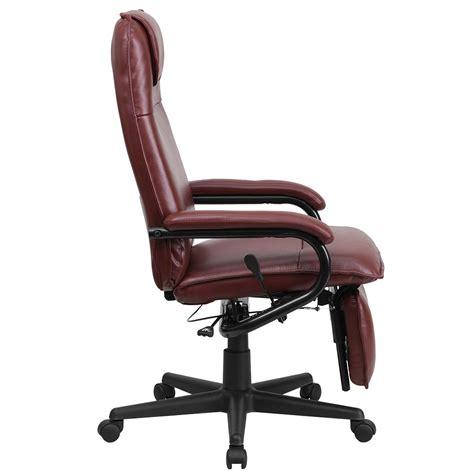 executive recliner ergonomic home high back burgundy leather executive