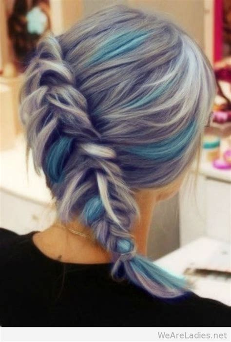 silver blue hair on pinterest lemon hair highlights perfect grey hair with blue highlights hair pinterest