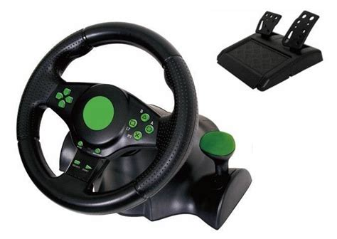 volante logitech xbox 360 gaming vibration racing steering wheel 23cm and pedals