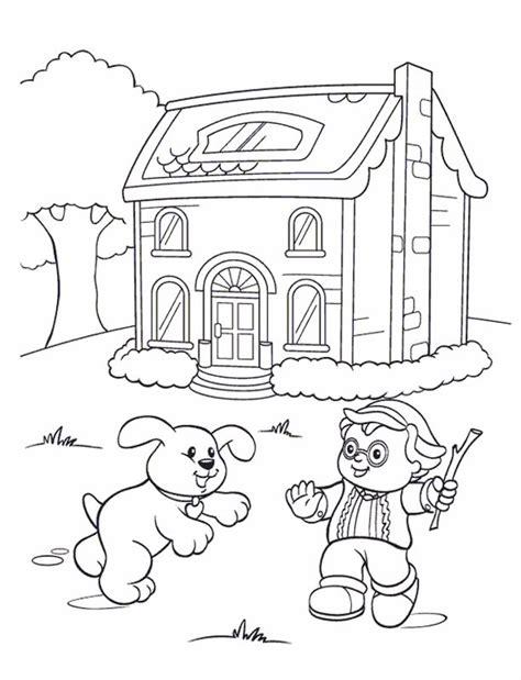little people coloring pages 14 kids farm kids