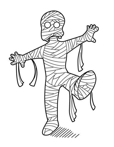 mummy template free printable mummy coloring pages for
