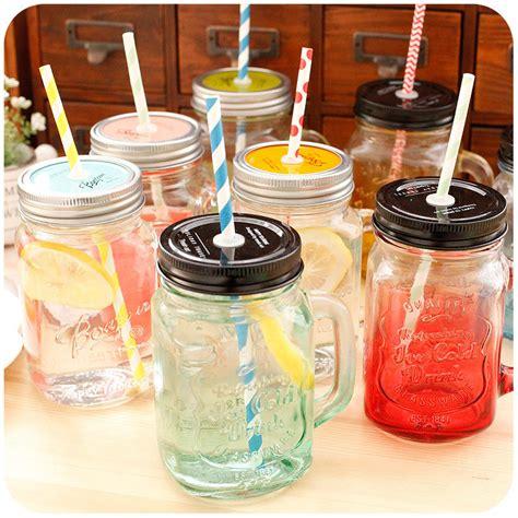 Souvenir Mug Jar 1 glass mug jar dengan dan tanpa sedotan elevenia