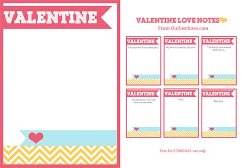 Blank Valentines Card Template by Printable Notes Our Best Bites
