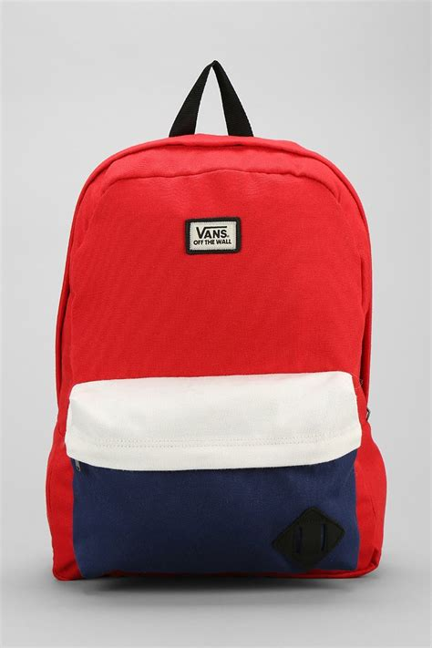 vans design backpack vans old skool ii backpack in red for men lyst
