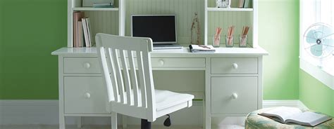 cottage and coastal style office furniture painted solid