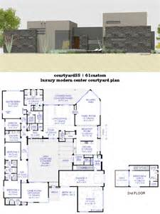 House Plans With Courtyards Luxury Modern Courtyard House Plan 61custom