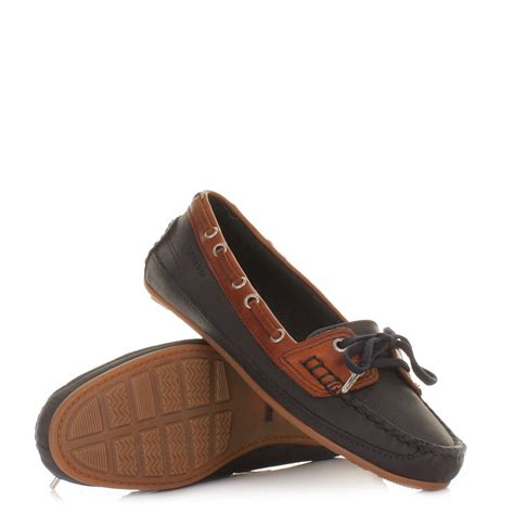 deck slippers womens sebago bala leather navy blue shoes moccasins boat