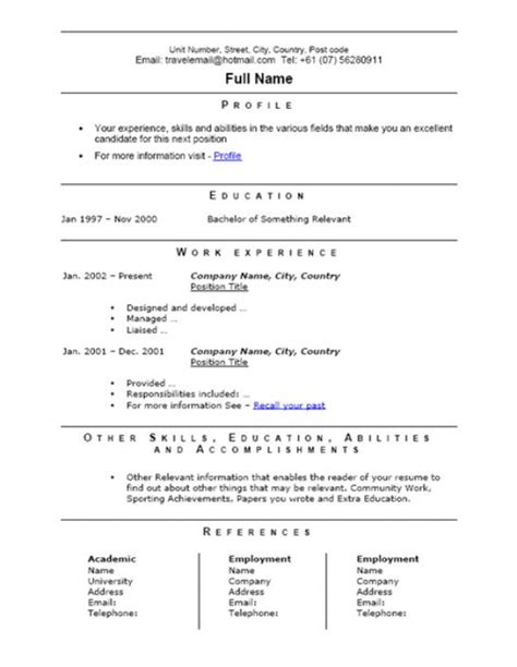 cv stands for curriculum vitae resume template