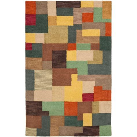 Area Rugs 5 X 6 Safavieh Soho Multi 3 Ft 6 In X 5 Ft 6 In Area Rug Soh923a 4 The Home Depot
