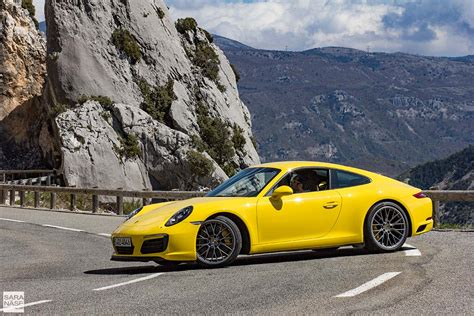 road porsche a beautiful driving road for a yellow porsche