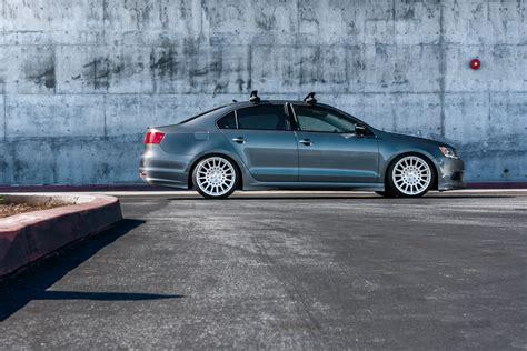 graphite gray jetta stanced  tsw machined custom wheels
