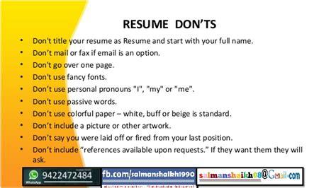 14 resume writing