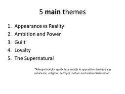 what themes are explored in macbeth theme posters for macbeth by sarelibar teaching