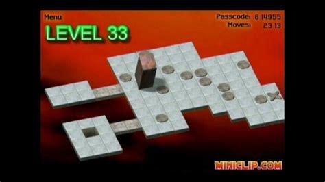 bloxorz level 33 miniclip bloxorz walkthrough