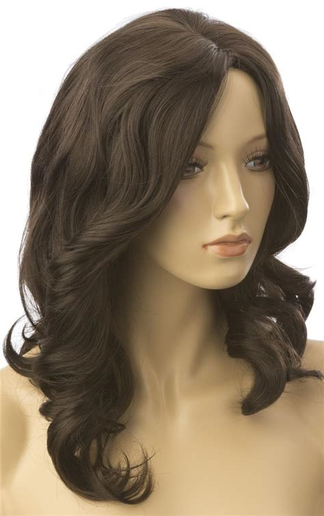 synthetic mannequins wigs male female long haired female brown wig mannequin accessory