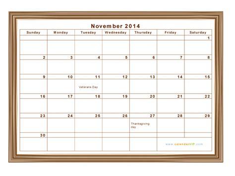 November 2014 Calendar November 2014 Calendar Blank Printable Calendar Template