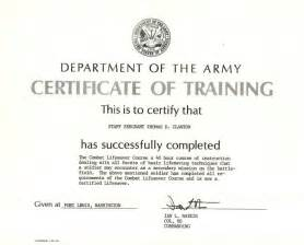 Combat Lifesaver Certificate Template by Combat Lifesaver Course Certification Photo