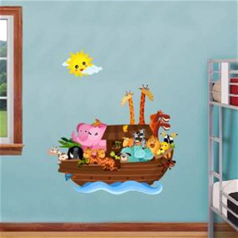 noah ark wall stickers noah s ark decal removable wall sticker home decor animals ebay