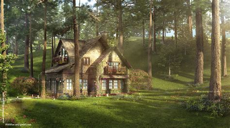 the cottage the firefly cottage 3dsmax vray study cottage