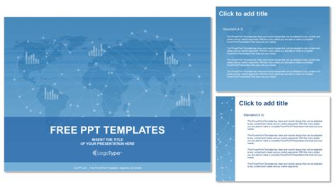 free world map business ppt templates free powerpoint