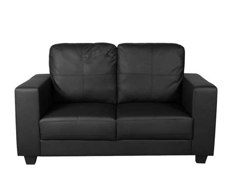 Two Seater Black Leather Sofa Briggs 2 Seater Black Faux Leather Sofa