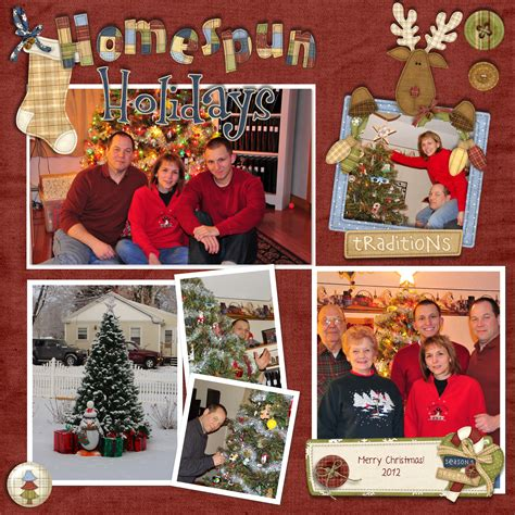 scrapbook layout ideas for christmas digital scrapbooking layout challenge