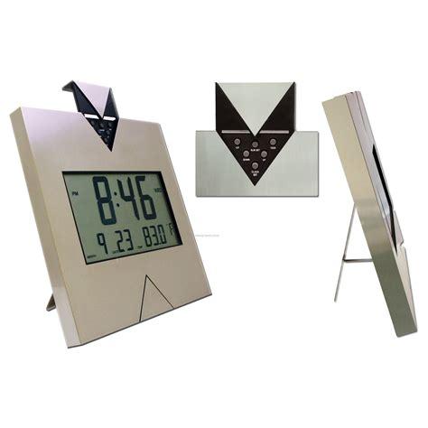 stainless steel digital alarm clock w calendar large display china wholesale stainless steel