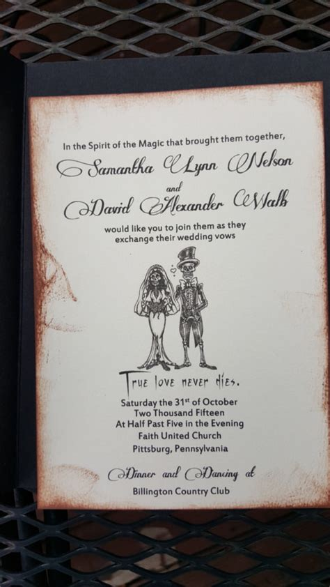 21 halloween wedding invitation templates free sle