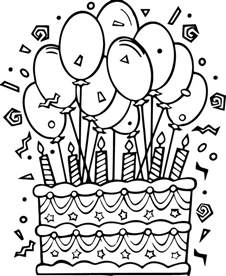 cake coloring pages cakes printable coloring pages 187 coloringzoom