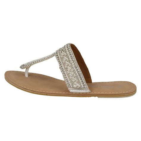 beaded toe sandals spot on leather collection flat beaded toe post