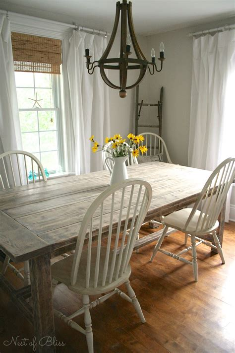 Dining Room Makeover Farmhouse Table Makeover Nest Of Bliss