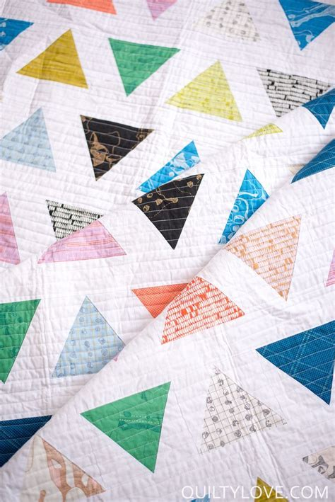 Triangle Patchwork Quilt - 17 best images about triangle quilts on