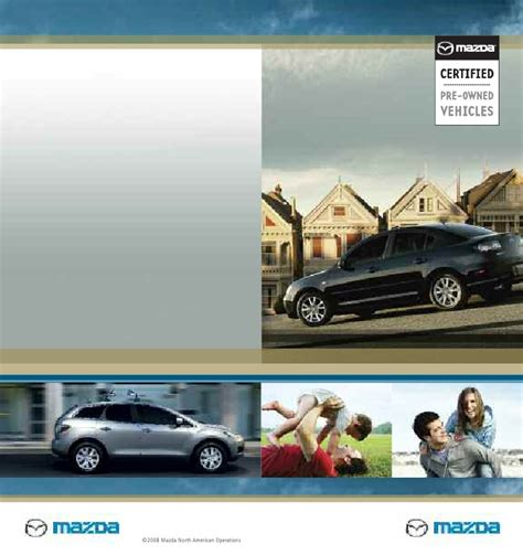 Mazda Certified Used by Mazda Certified Pre Owned Used Cars Cpo Brochure From