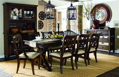 legacy classic dining room set legacy classic thatcher rectangular trestle table dining