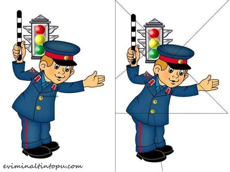 traffic police puzzle printables « funnycrafts