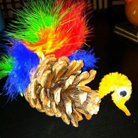 pinecone turkey craft pinecone turkey craft