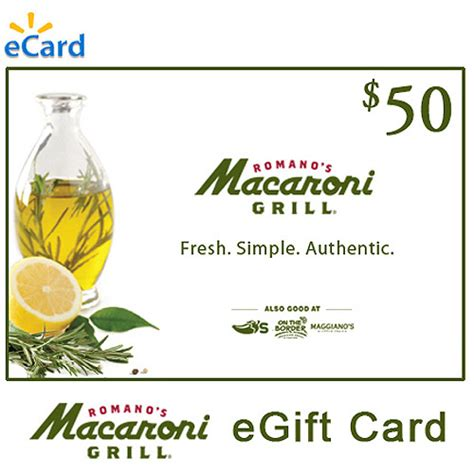 Macaroni Grill Gift Card Value - email delivery macaroni grill 50 egift card walmart com