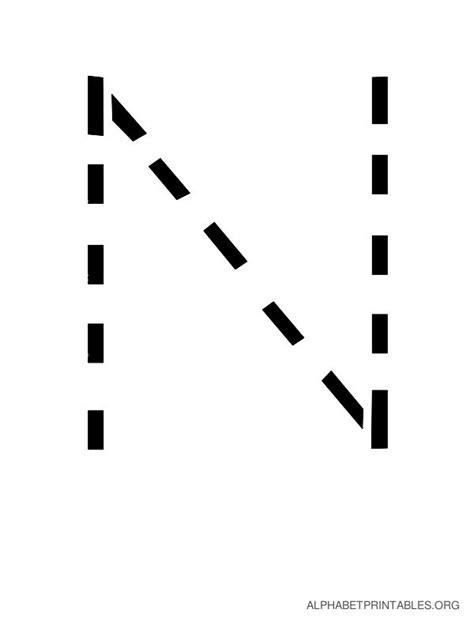 free printable tracing letter n handwriting alphabet tracing letters to print alphabet