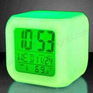 color changing alarm clock color changing led digital alarm clock by