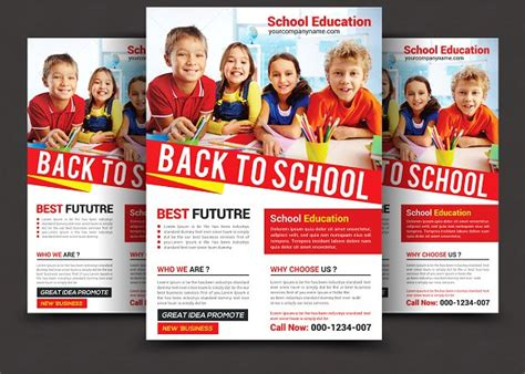 Back To School Flyer Flyer Templates On Creative Market School Poster Templates