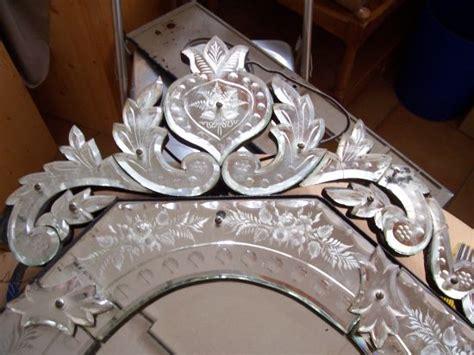 antiker venezianischer glas spiegel sch 246 ler bleikristall spiegel restaurierung