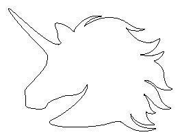 printable unicorn head stencil unicorn head pattern patchwork and sewing pinterest