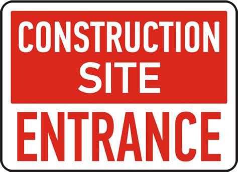 Baustellenschild Englisch by Construction Site Entrance Sign By Safetysign G2574