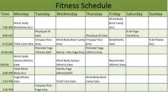 gym workout schedule template
