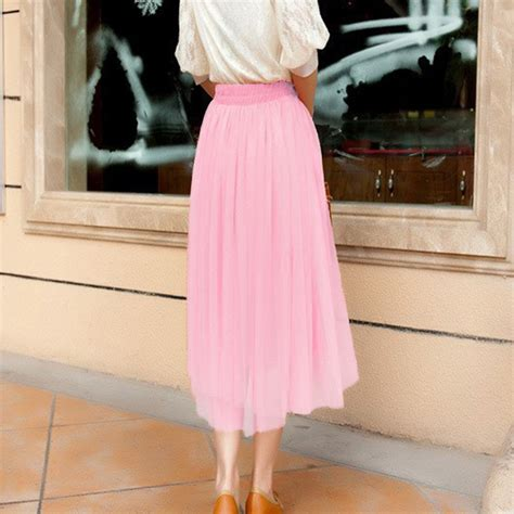 maxi pleated skirts for 2017 summer a line