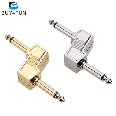 Audio 1 4 Inch 6 35mm Pedal Efek Gitar aroma z type audio adaptors 6 35mm 1 4 quot connecting zinc alloy connector for